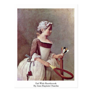 Girl With Shuttlecock By Jean-Baptiste Chardin Postcards