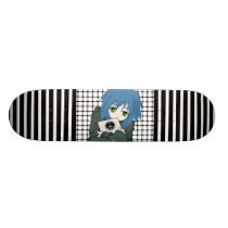 Girl with Tablet Skateboard