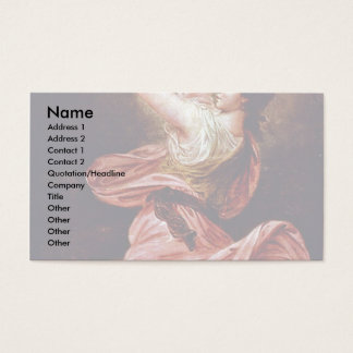 Girl With Tambourine By Rode Bernhard Business Card