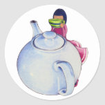 Girl with Tea Sticker