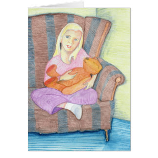 Girl with Teddy Bear Only One You Card
