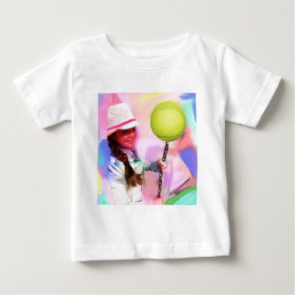 Girl with tennis ball baby T-Shirt