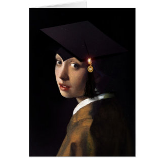 Girl with the Graduation Hat Card
