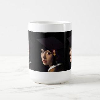 Girl with the Graduation Hat Classic White Coffee Mug