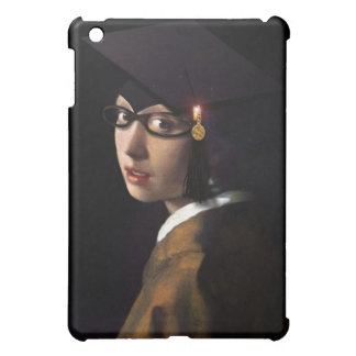 Girl with the Graduation Hat iPad Mini Covers
