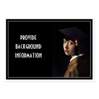 Girl with the Graduation Hat Large Business Cards (Pack Of 100)
