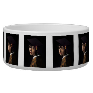 Girl with the Graduation Hat (Pearl Earring) Bowl