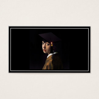 Girl with the Graduation Hat (Pearl Earring) Business Card
