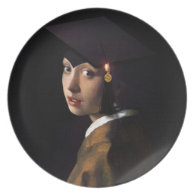 Girl with the Graduation Hat (Pearl Earring) Dinner Plate