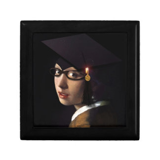 Girl with the Graduation Hat (Pearl Earring) Jewelry Box