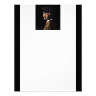 Girl with the Graduation Hat (Pearl Earring) Letterhead