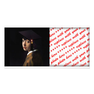 Girl with the Graduation Hat (Pearl Earring) Photo Card