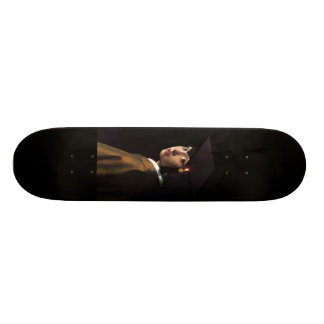 Girl with the Graduation Hat (Pearl Earring) Skateboard