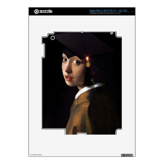 Girl with the Graduation Hat Skins For iPad 3