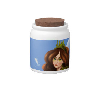 girl with the green crown Candy Jar