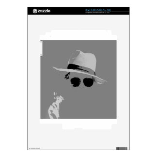 GIrl With The Hat & Shades Decal For iPad 2
