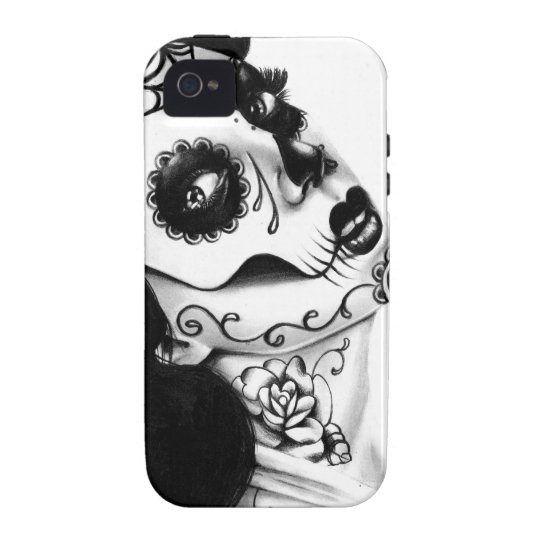 Girl With The Neck Tattoo by Carissa Rose Case-Mate iPhone 4 Case