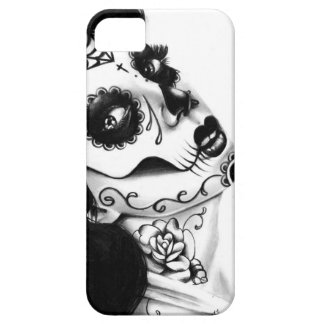 Girl With The Neck Tattoo by Carissa Rose iPhone SE/5/5s Case