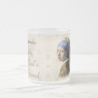 Girl with the Pearl Earring 10 Oz Frosted Glass Coffee Mug