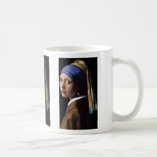girl with the pearl earring classic white coffee mug