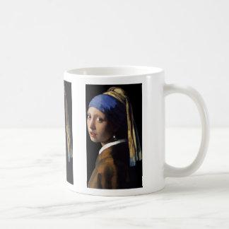 girl with the pearl earring coffee mug