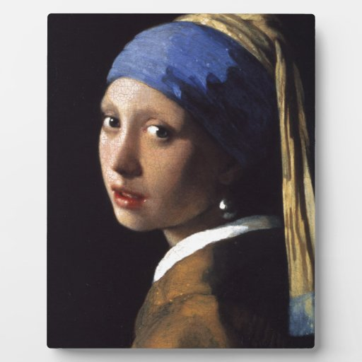 girl with the pearl earring plaque