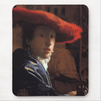 Girl with the Red Hat Mousepads