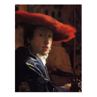 Girl with the Red Hat Post Card