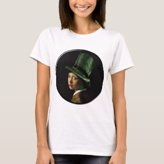 Girl With The Shamrock Earring - St Patrick's Day T-Shirt