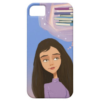 girl with the story books iPhone 5 Cases