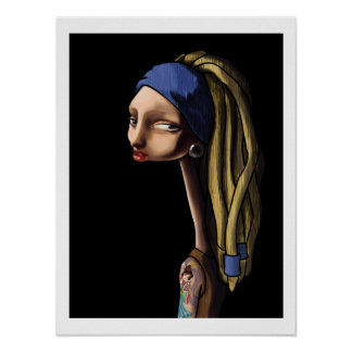 Girl With The Stretched Earlobe Poster
