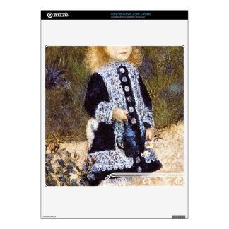 Girl with the Watering Can by Pierre Renoir PS3 Slim Decals