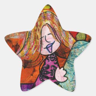 Girl with Torah Star Sticker