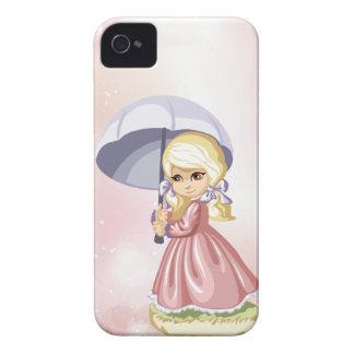 Girl with Umbrella Blackberry Case
