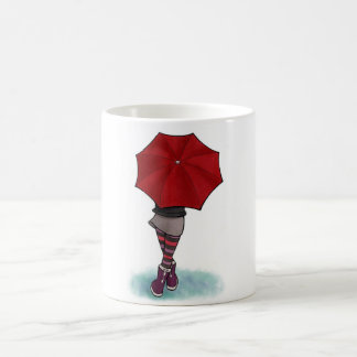 girl with umbrella cup
