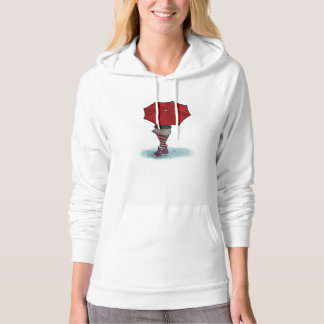 girl with umbrella hoodie