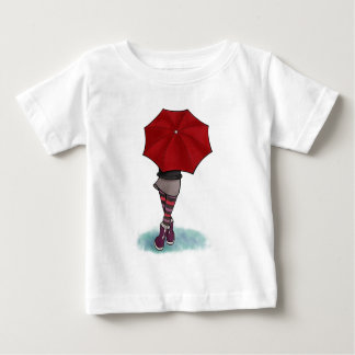 girl with umbrella infant t-shirt