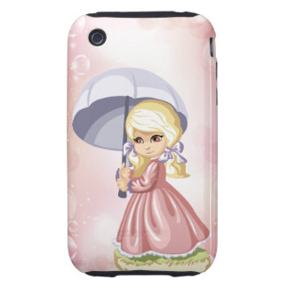 Girl with Umbrellla iPhone Case