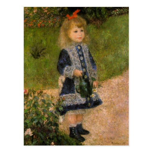 Girl with Watercan by Renoir Post Card