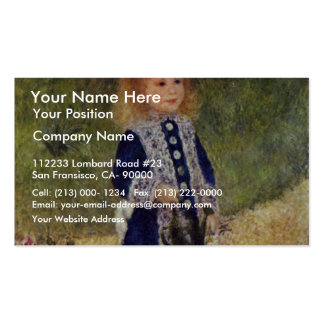 Girl With Watering Can By Pierre-Auguste Renoir Business Card Templates