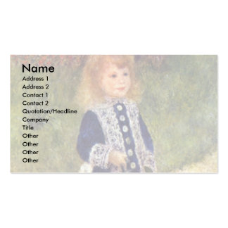 Girl With Watering Can By Pierre-Auguste Renoir Business Card