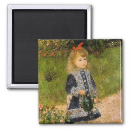Girl with Watering Can Magnet