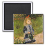 Girl with Watering Can Refrigerator Magnet