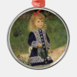 Girl with Watering Can Renoir Impressionism Art Ornaments