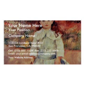Girl With Whip By Pierre-Auguste Renoir Business Card