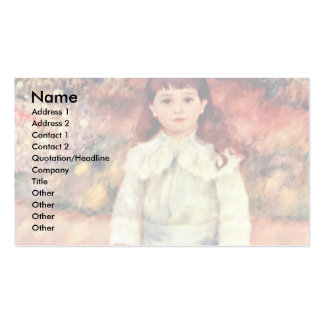 Girl With Whip By Pierre-Auguste Renoir Business Card Template