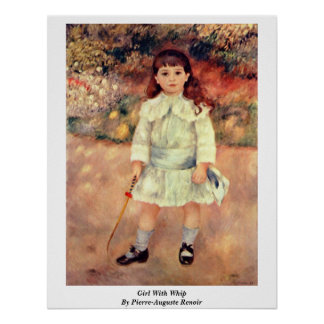 Girl With Whip By Print