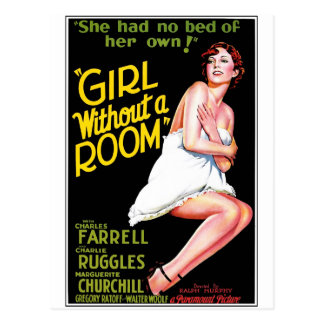 Girl Without A Room Postcard