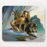 girl-wolf mouse pad
