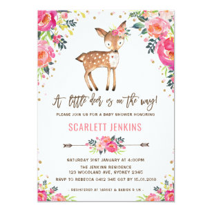 Deer Baby Shower Invitations Announcements Zazzle
